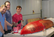 Civil engineering students at UofL built a concrete canoe and figured out how to make it float as part of a competition with students from other engineering schools in the region.